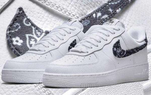 Latest drop Nike Air Force 1 Low Wraps Up by Black Twill Paisley
